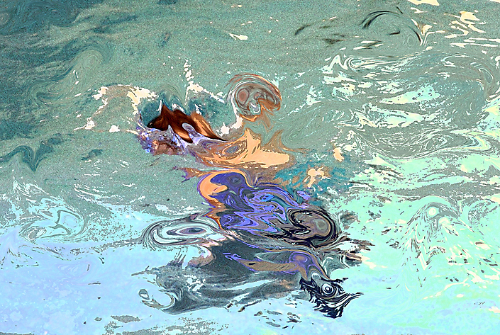 Water-kelpie  80cm x 120cm  Louis Bertholet ©