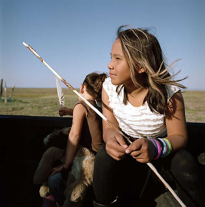 Josie en Anna Kupaaq, Point Hope, 2014