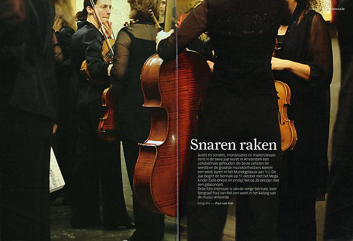 Amsterdam Cello Biënnale, photo essay, Volkskrant bijlage.