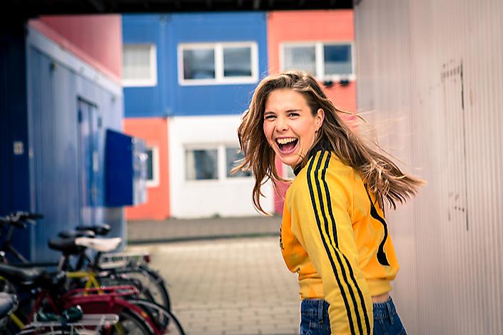 Adidas Vintage met Lize Kop