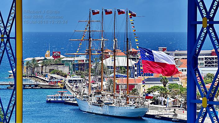 Tijdens Sail 2018 in de haven van Curacao