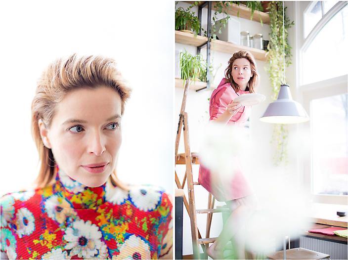 Actrice Thekla Reuten for The Next Closet © Iris Duvekot