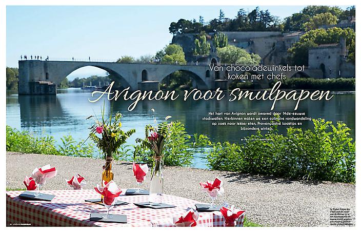 Artikel Avignon voor smulpapen (tijdschrift Leven in Frankrijk)