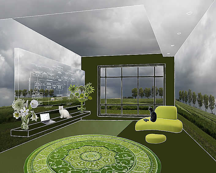 The room of Bart Verheggen (climate scientist)