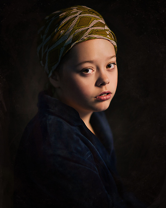 The girl without the pearl earring