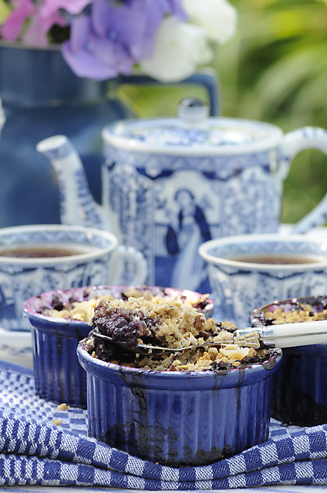 ©Coco Oltra blauwe bessen crumble