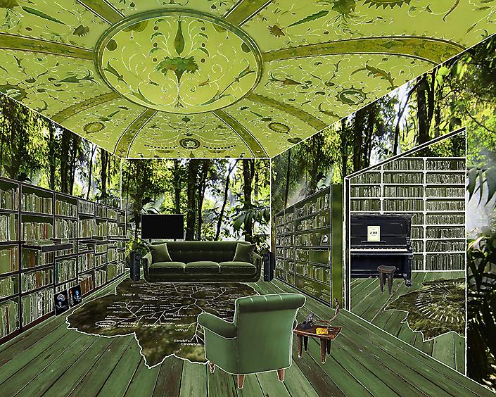 The room of natural historian (David Attenborough)