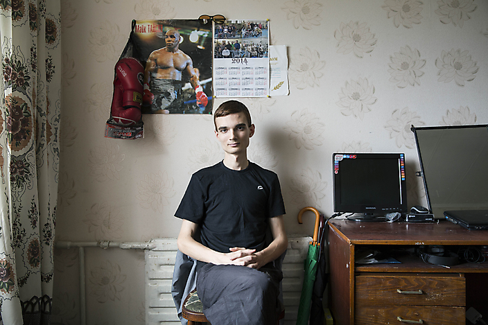 Een van de voorstaanders van de opstanden in Kiev in 2014