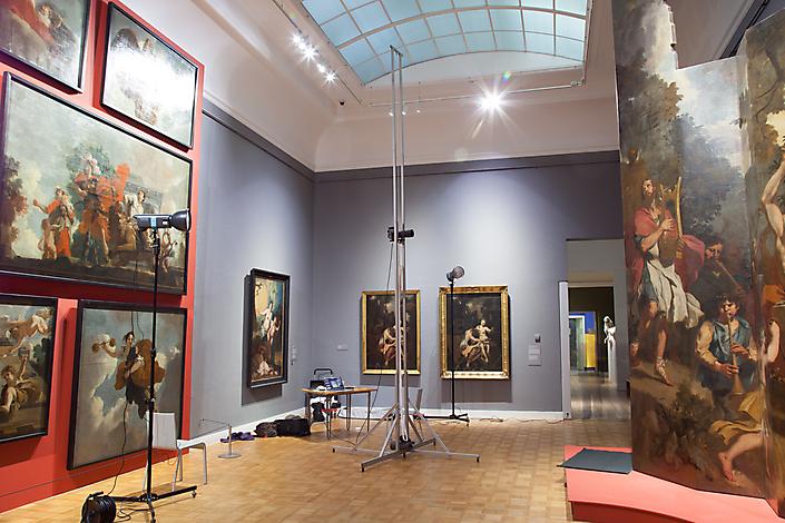 Fotografie Orgelluiken Westerkerk, Amsterdam in tentoonstelling in Rijksmuseum Twenthe