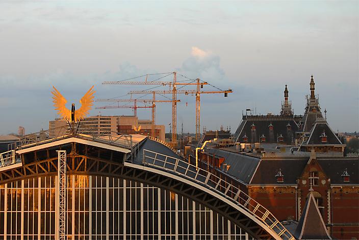 Amsterdam Centraal vanaf IBIS-toren