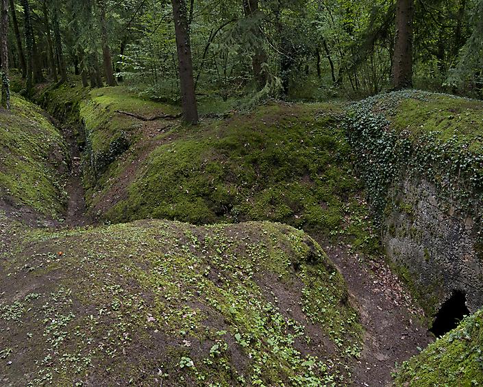 Tranchées de la Soif. Loopgraven in Oost-Frankrijk in de