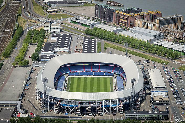 Luchtfotografie, de Kuip in Rotterdam