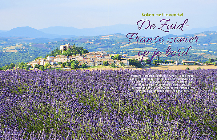 Artikel Koken met lavendel (tijdschrift Leven in Frankrijk)