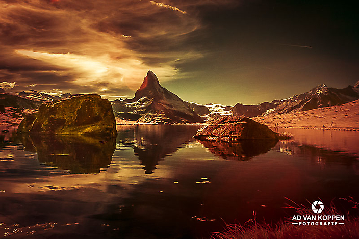 Matterhorn in de Stellisee