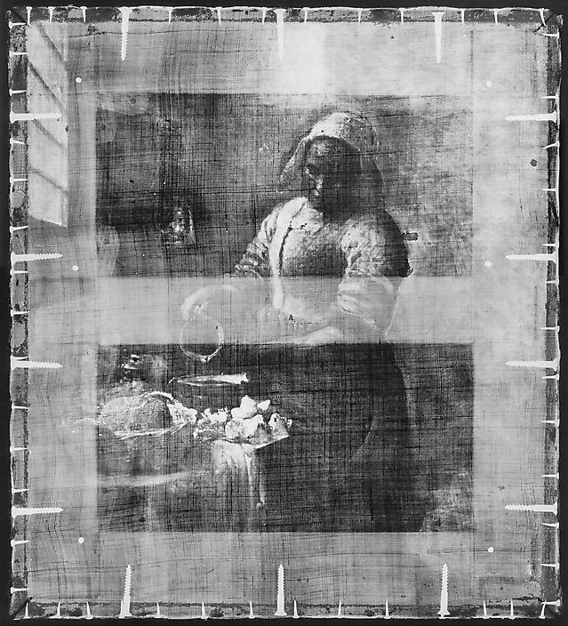 Melkmeisje-Vermeer-Rontgen Rijksmuseum Amsterdam