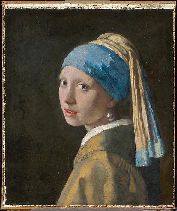Meisje met de Parel, polarisatie opname. Mauritshuis.