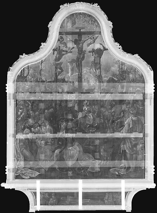 Engebrechtsz-1:1 Rontgen van het middenpaneel 198 x 146 cm De Lakenhal