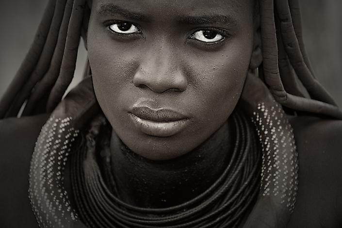 Namibie Himba vrouw