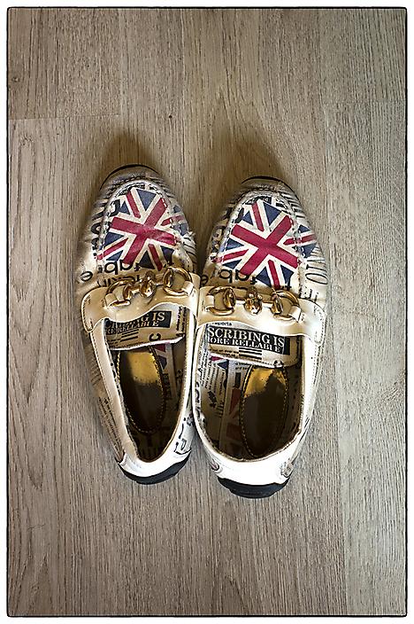 De schoenen van Nasser Tabbakh uit Aleppo