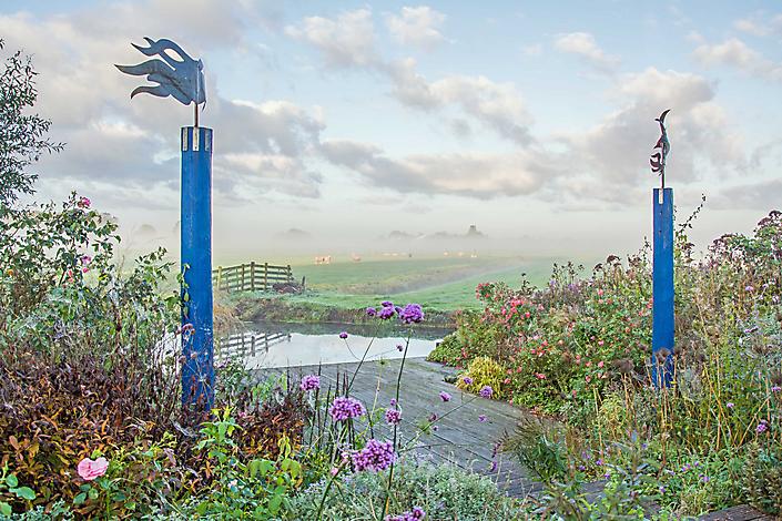 De tuin van Ton ter Linden, De Veenhoop (Frl)