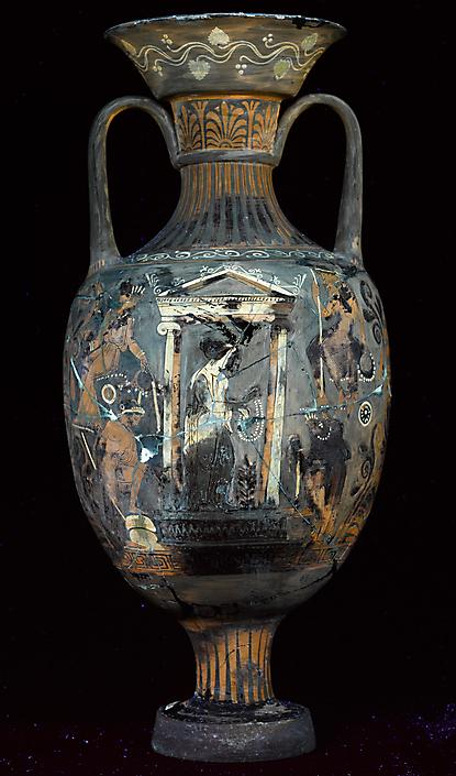 Grieks-aardewerk-UV-fluorescentie Rijksmuseum voor Oudheden