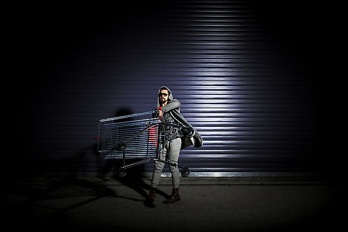 Roney-0240-outdoor-night-rolling-gate-portrait-art-1600px-80jpg-by-chris-mueller