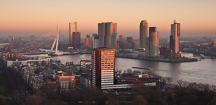 Rotterdam Skyline Red