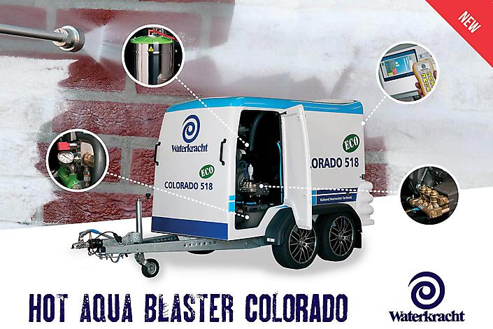 Fotografie t.b.v. Leaflet voor Waterkracht, leverancier voor hogedrukreinigers en reinigingsmachines