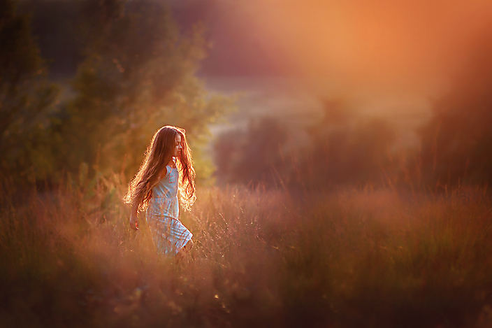A walk through the golden field